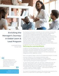 Global Learn & Lead Program Case Study