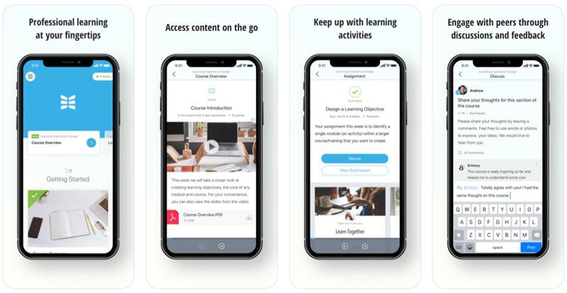 NovoEd mobile app screenshots
